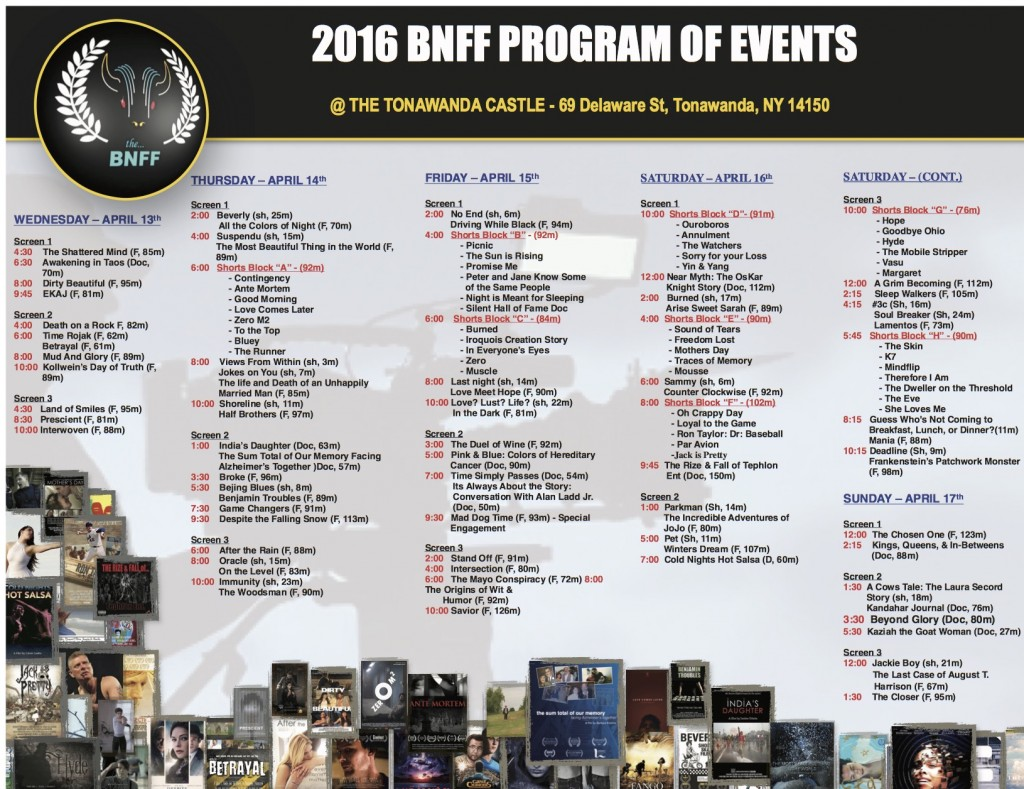 2016 program of events