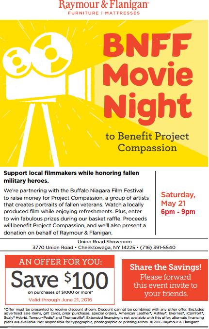 BNFF Movie Night – Saturday May 21st 2016 (6pm-9pm)